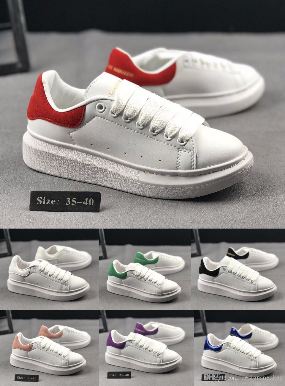 73e2ea6526c 2019 Fashion Luxury Designer Sneakers Women Men Leather Casual Walking  Party Dress Shoes Sneaker Top Quality