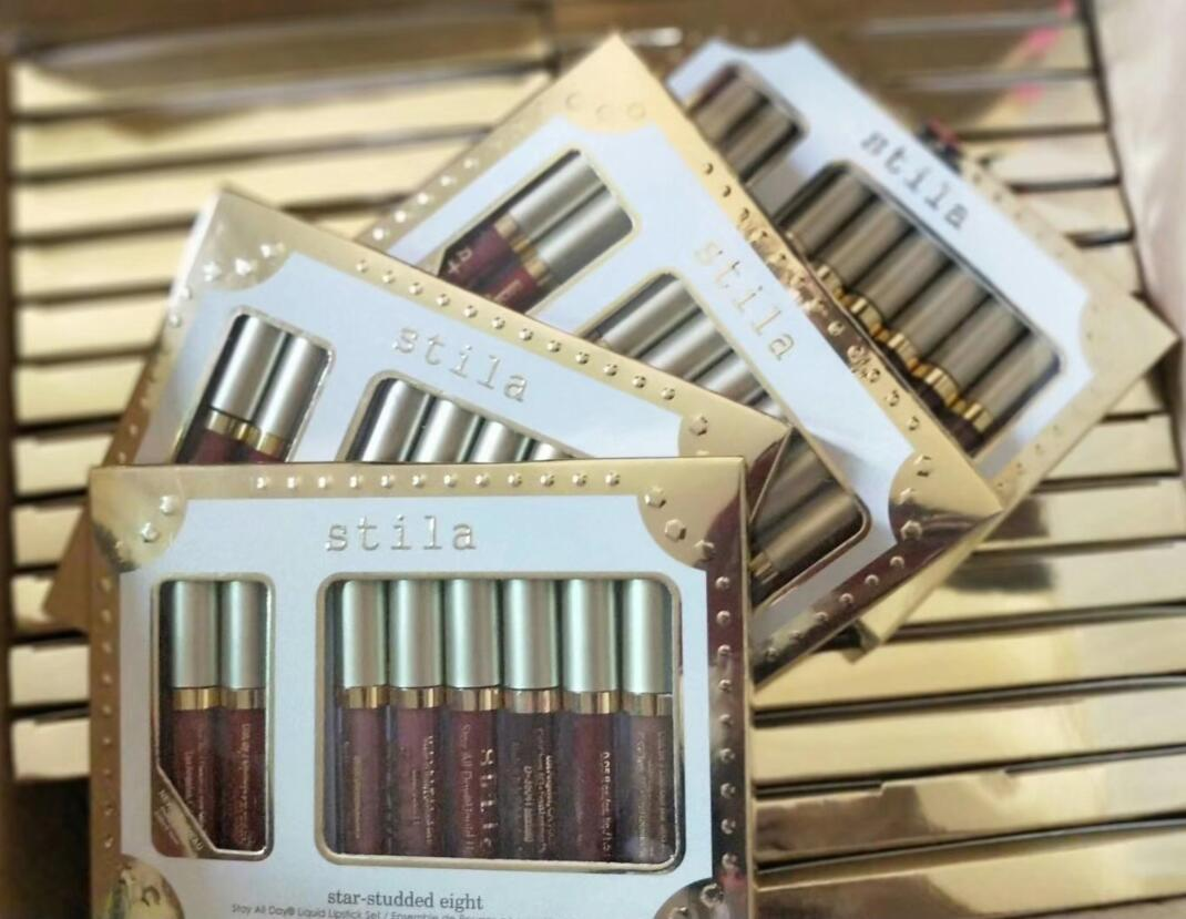 Stilla Star Stellato Liquid Lipstick Lucidalabbra Set Stay All Days Long Lasting Luccichio Cremoso Liquid Makeup Lip Gloss rossetto