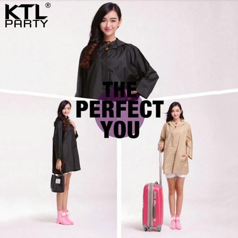 bac96408147 KTLPARTY Womens Ultra-thin Travel Outdoor Windbreaker Raincoat Femal ...
