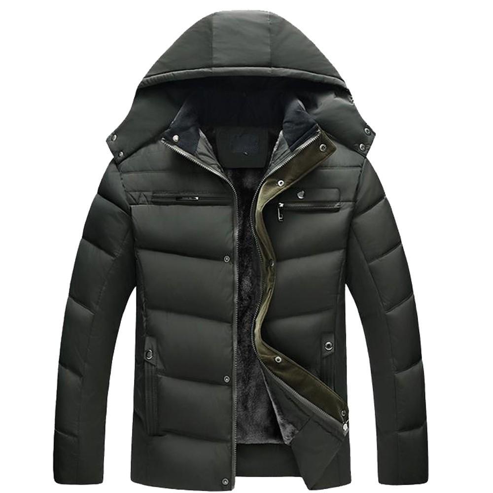 6e7550627e50d Parkas Marke 2018 Winter Jacke warme Jacken Mantel Männer Casual warme  Kapuze Winter Reißverschluss Mantel Outwear Top Parka Männer