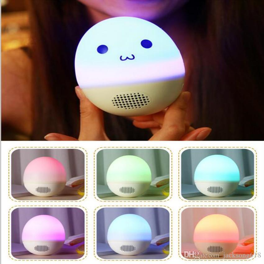 Newest Novelty Tumbler Atmosphere Light Audio DIY Expression Bluetooth Audio Creative Colorful Pat light Portable Wireless Stereo Speakers