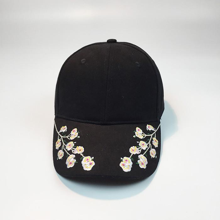 Embroidered flower ladies sports cap Summer adjustable pink hat Sunshade outdoor sports cap mountaineering hat S-NEW