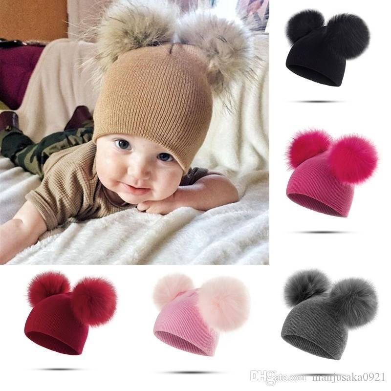 5088fa0c223 2019 2019 Fashion Baby Hats Toddler Girl Boy Winter Warm Cute Hat Beanie  From Manjusaka0921