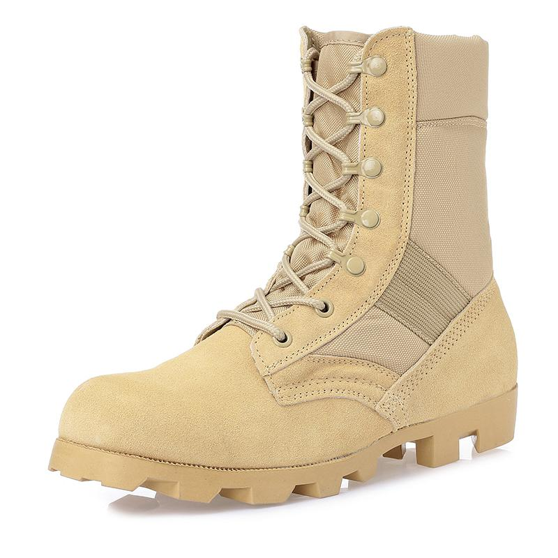 Army boots Big Size 39 45 Combat Desert Sandy Black Boots Construction Hiking Outdoors Durable Comfortable
