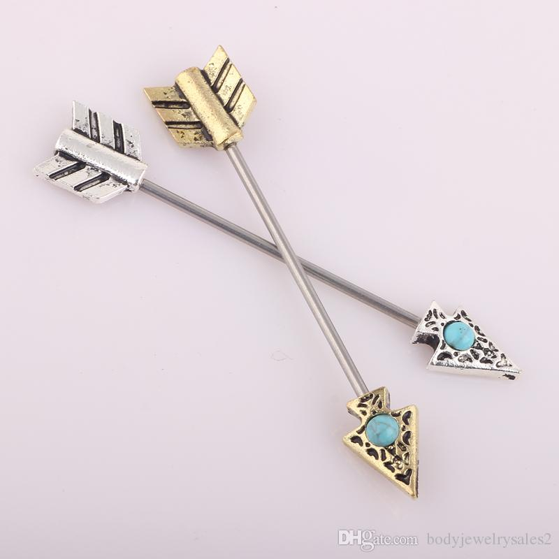 Surgical Steel Scaffold Industrial Piercing Barbell Earring Bars 14g Cartilage Long Ear Body Jewelry Tragus
