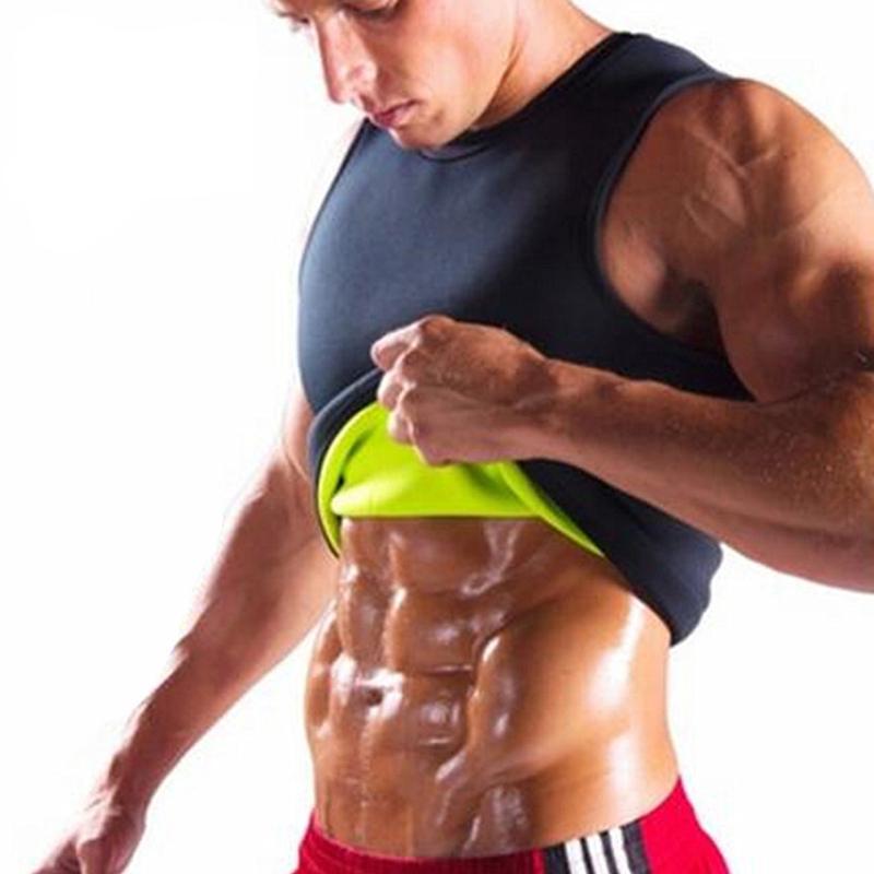 031018e5cd 2019 Hot Shapers Slimming T Shirt Sauna Vest Body Shaper Men Ultra Sweat  Shapers Black Male Stretch Waist Trainer Corsets Shapewear From  Clothwelldone
