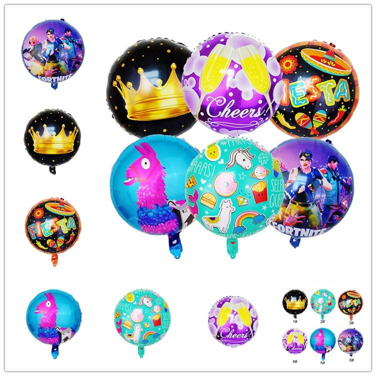 18 Zoll Fortnite Aluminiumfolie Ballon Kinder Spielzeug Birthday Party Supplies Weihnachten Display Fenster Zubehör Carnival Home Decorati Ballon