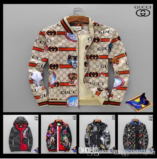 223ce0378 New Winter Coats Windbreaker Luxury Brand Designer Jacket Men Long Sleeve  Bomber Jacket Fashion Snake Space Tiger Floral Print Jackets Oversized  Jacket ...