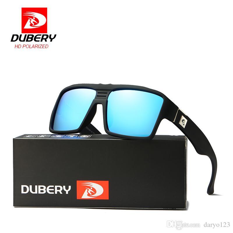 14caf6a1a4ca4 Compre Dubery Polarizada Óculos De Sol Dos Homens Retro Masculino Óculos De  Proteção Coloridos Óculos De Sol Para Homens Moda Marca De Luxo Espelho  Shades ...
