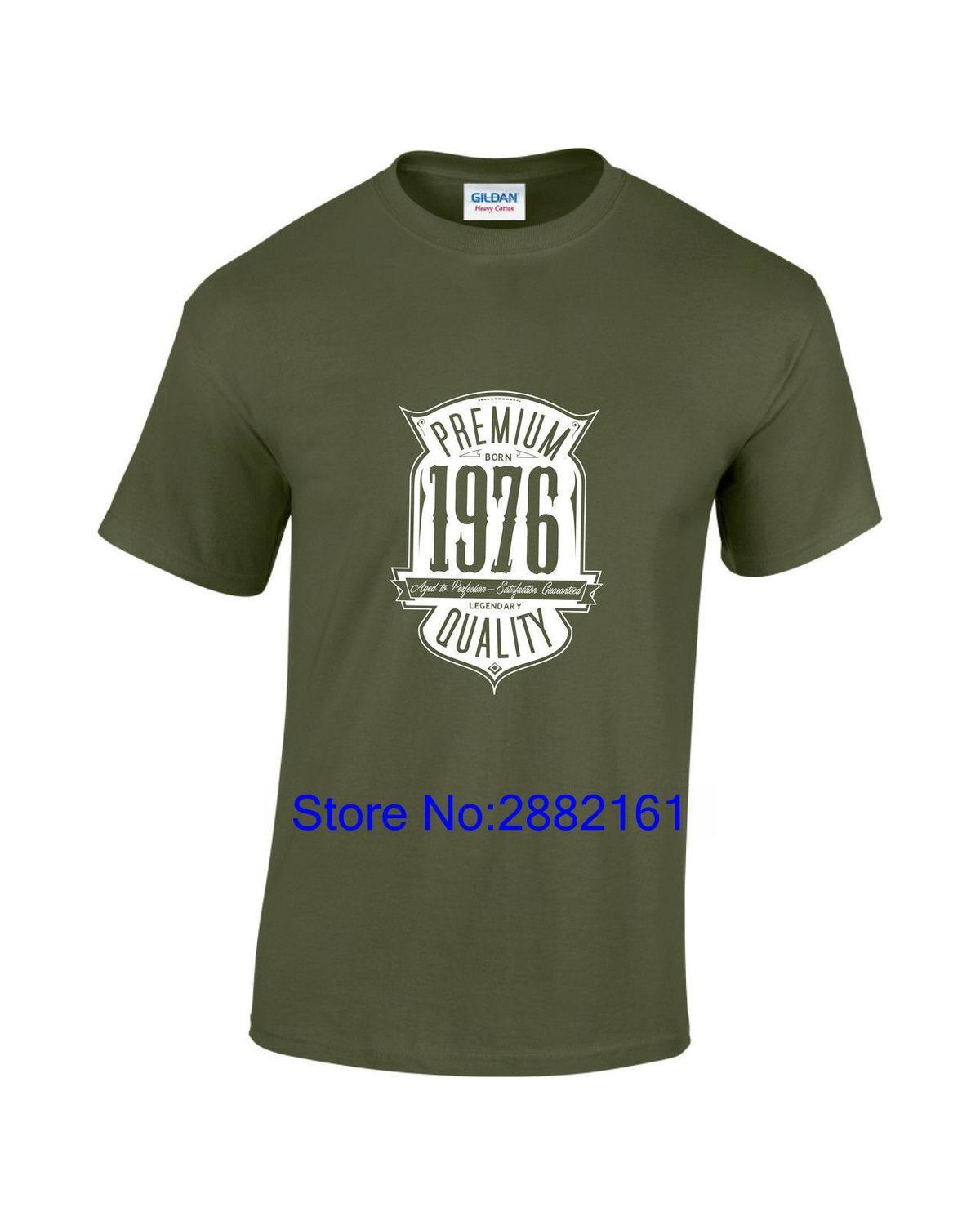 Aged To Perfection Born In 1976 41st Birthday Gift Mens Printed T Shirt New Fashion Men Patriotic Shirts Funny Tshirt From Amesion98