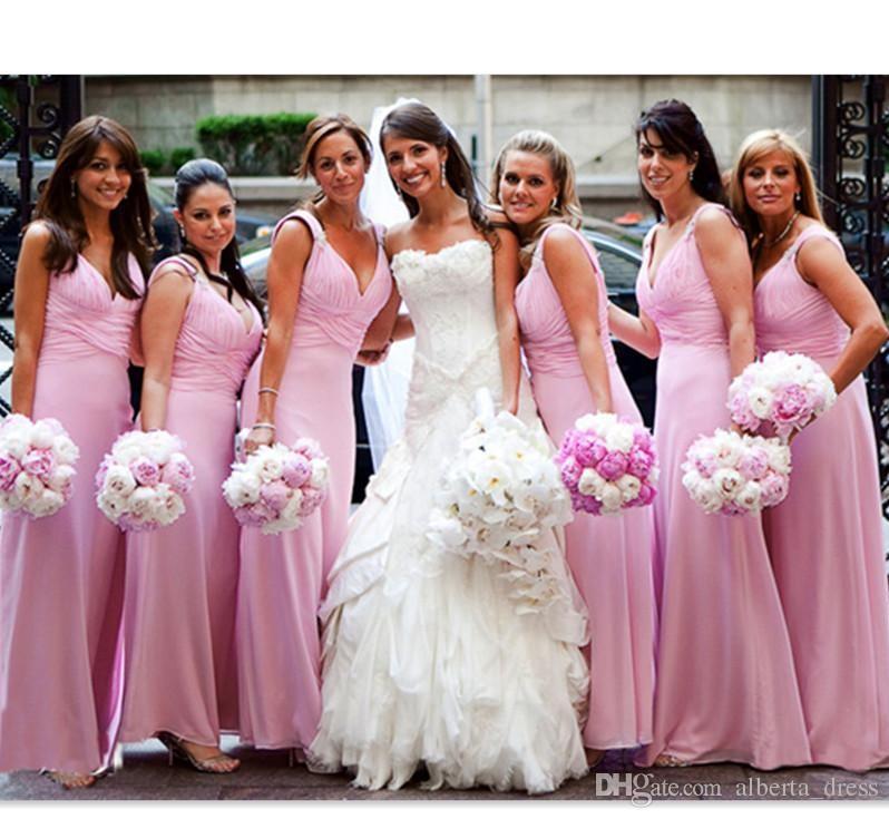 Encantador Vestidos De Dama De Honor Baratos Festooning - Ideas de ...