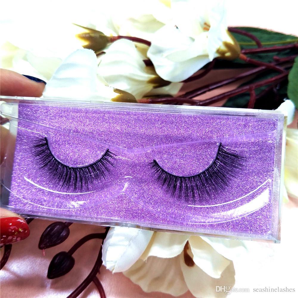 Sexy 100% 3D Real de calidad superior Mink Lash Glitter Packaging Mink Lashes hecho a mano para Lash Extensions Pestañas