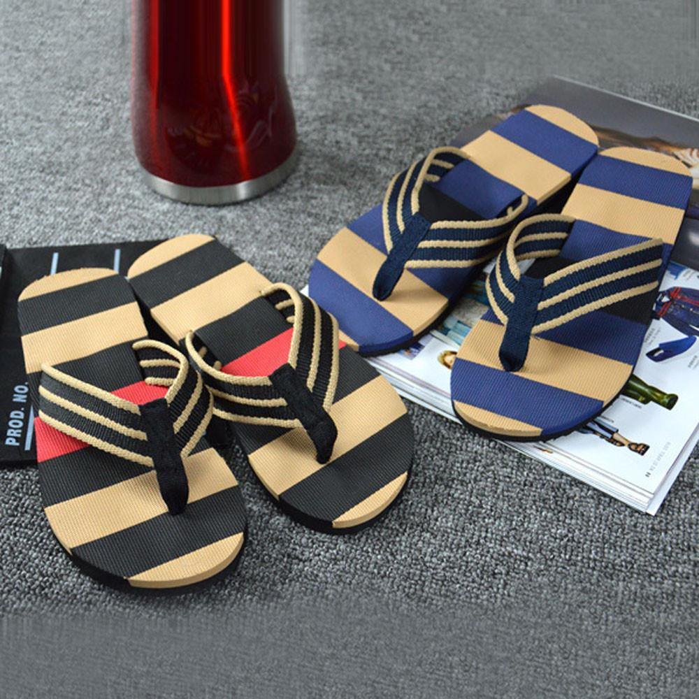 7ed2cc63ffbd Men Summer Stripe Flip Flops Shoes Sandals Male Slipper Flip-flops Flip-flops  Flip-flops Men Flip-flop Sandals Online with  13.85 Piece on Lakeone s Store  ...
