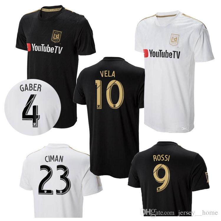 828853f69 2019 Wholesale New 2018 LAFC Carlos Vela Soccer Jerseys 18 19 GABER ROSSI  CIMAN ZIMMERMAN Home Away TOP Quality Football Shirt Los Angeles Fc From ...