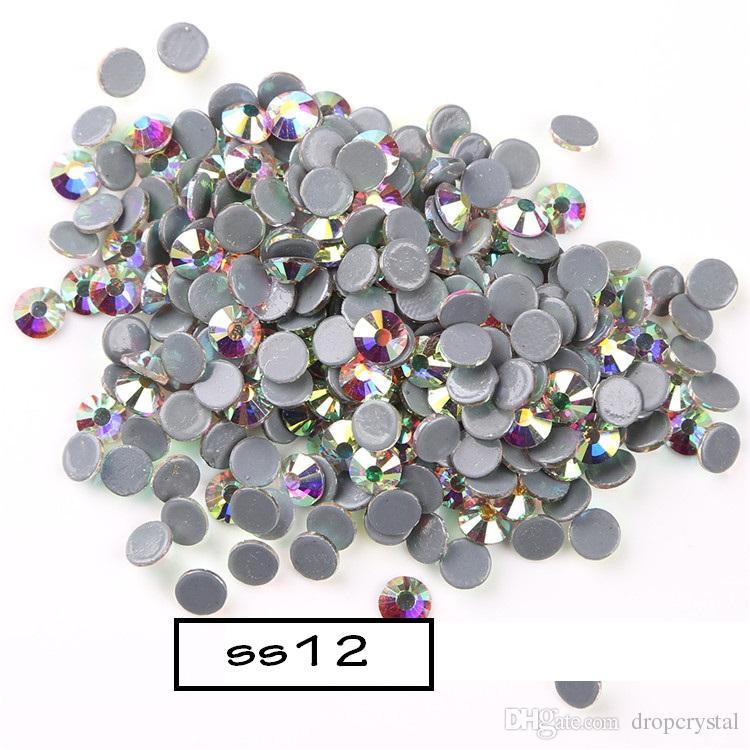 Ss12 AB Color Hotfix Rhinestones Crystal Stones Iron On Rhinestones ... fc54ff9fdf2d