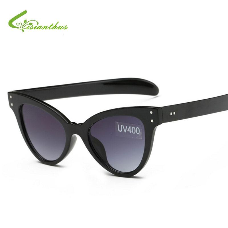 f7b4de26a5 Women Cat Eye Sunglasses Black Frame Women Brand Designer Ladies Sun ...