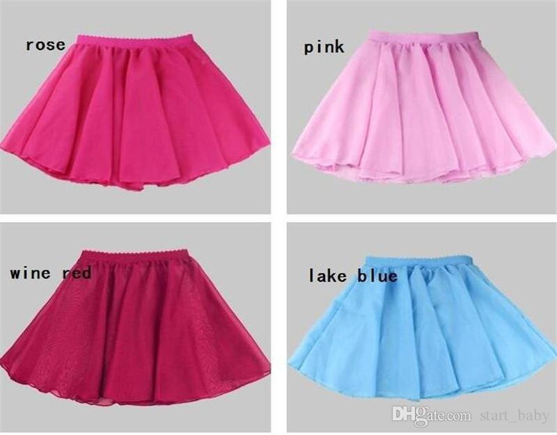 Cute girls dancewear Dance skirt Students performance clothing Chiffon Ballet skirt dress for Pupil middle school Summer Multi colors B11