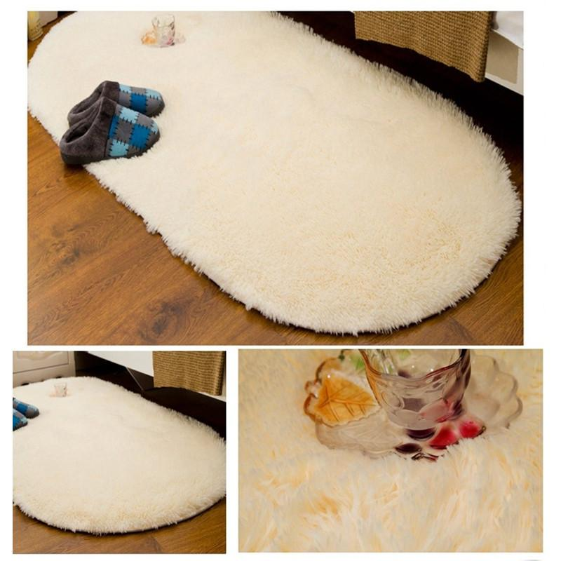 Mat For Home Parlor Bedroom Living Room 9 Dimensions: Large Size Soft Oval Carpet Alfombras Faux Fur Area Rugs