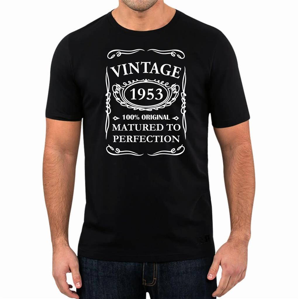 65th Birthday Present Gift Year 1953 Matured To Perfection TShirt Unisex Fun Tee New High Quality T Shirt Summer Style Ot Shirts Best Designer From