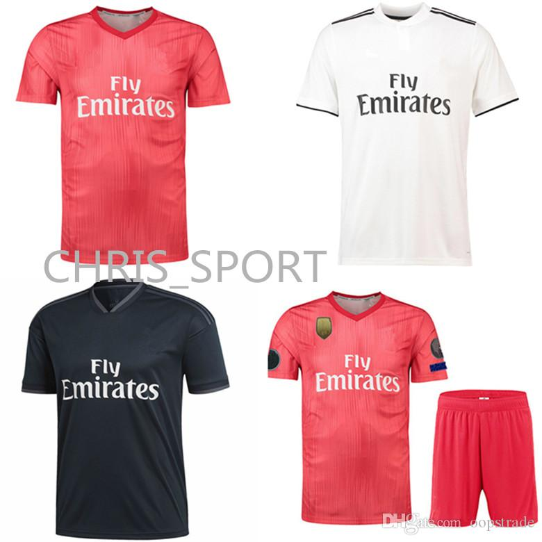 New Real Madrid Home Away Third Shirt 2018 2019 Mens Thai Quality Soccer  Jerseys All Logos Cheap Football Club Set Customized UK 2019 From  Oopstrade baf833d68