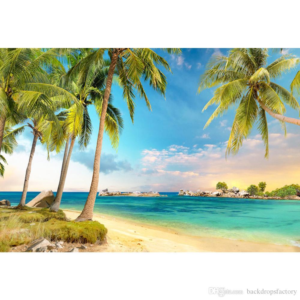 Acquista Cielo Blu E Mare Tropicale Scenic Beach Scenic Stampato