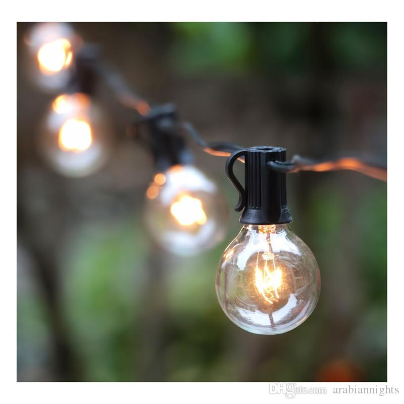 25Ft G40 Globe String Lights with 25LED Clear Bulbs, Backyard Patio Lights,Hanging  Indoor/Outdoor String Lights for Bistro Cafe Party Decor Globe Light ... - 25Ft G40 Globe String Lights With 25LED Clear Bulbs, Backyard Patio