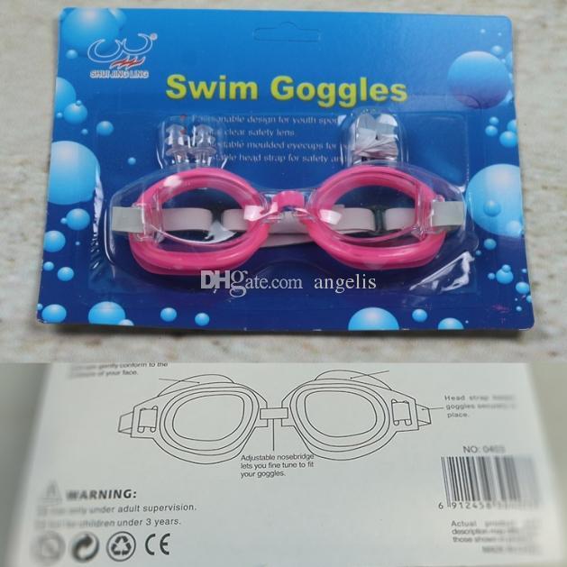 2018 Новые взрослые дети Плавательные очки Плавательные очки + затычки для ушей + зажим для носа, водонепроницаемые, противотуманные. 5 цветов.