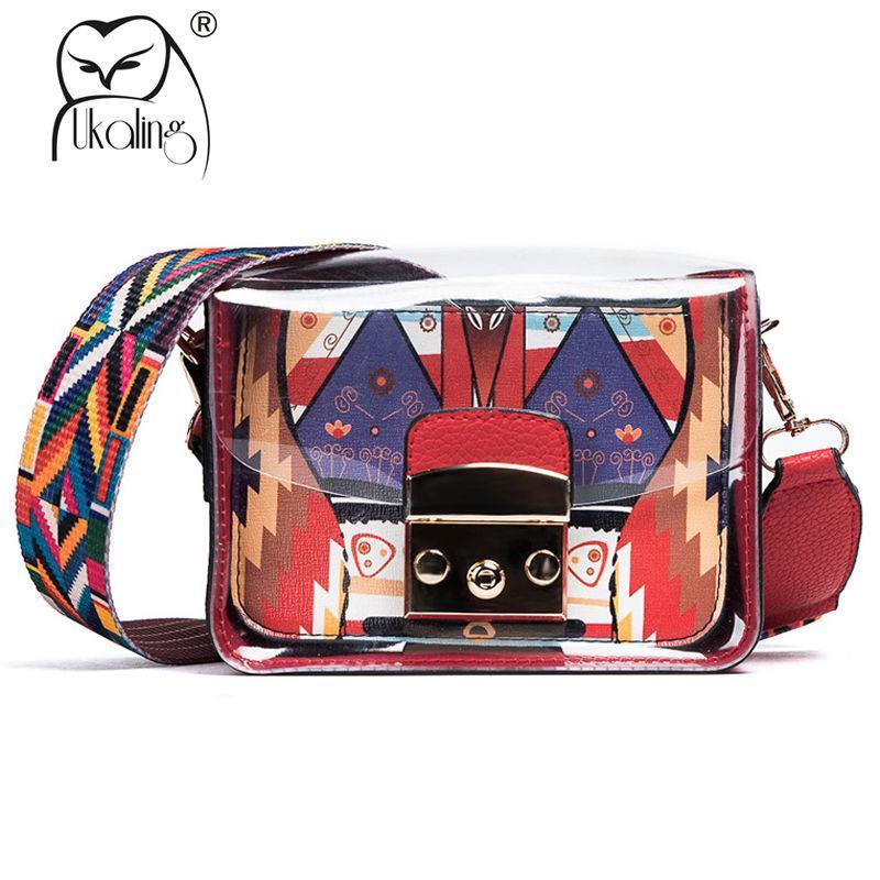0592b6b4c771 UKQLING Summer Women Messenger Bags With Wide Colorful Strap Bags Handbags  Women Famous Brands Purse Lady Crossbody Bag Female Y18102303 Hobo Bags  Ladies ...