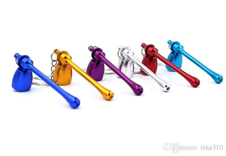 fumer pipes mini trousseau styles de champignons accessoires pour fumeurs ultime tuyau mini aluminium trousseau de métal fumer tuyau cadeau i177