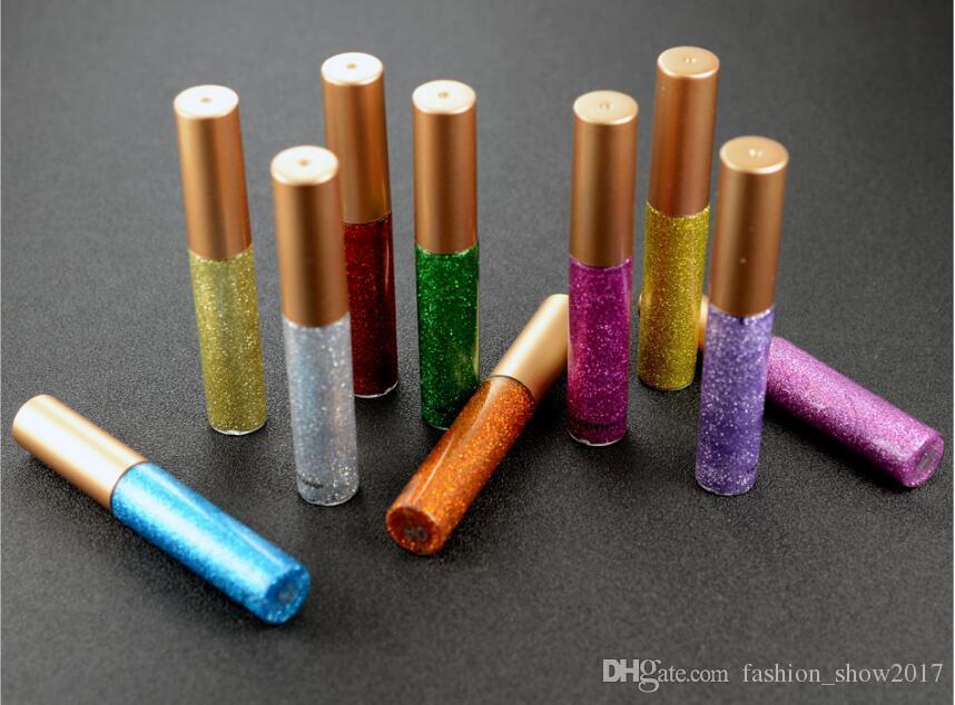 Eyeliner liquido glitterato Trucco brillante portatile Matita occhi liquidi Matita Eyeliner lucido cosmetico di lunga durata ad asciugatura rapida