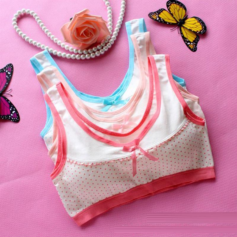 Children Girls Training Bra Teenage Girl Underwear Cotton Child Bra For Kids Bras Student Young Girls Puberty Underwear