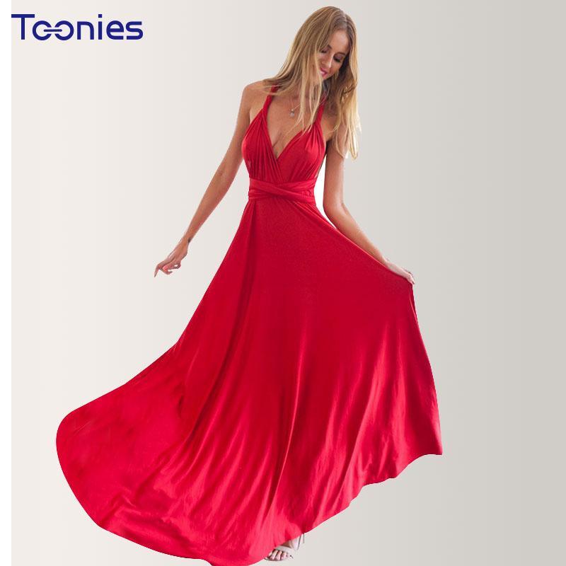 2c8ee215bfa8 2019 Summer Sexy Dress Women Wedding Bridesmaids Convertible Wrap Long Maxi  Dress Multiway Rope Cross Bandage Dresses Beach Vestido From Fangfen, ...