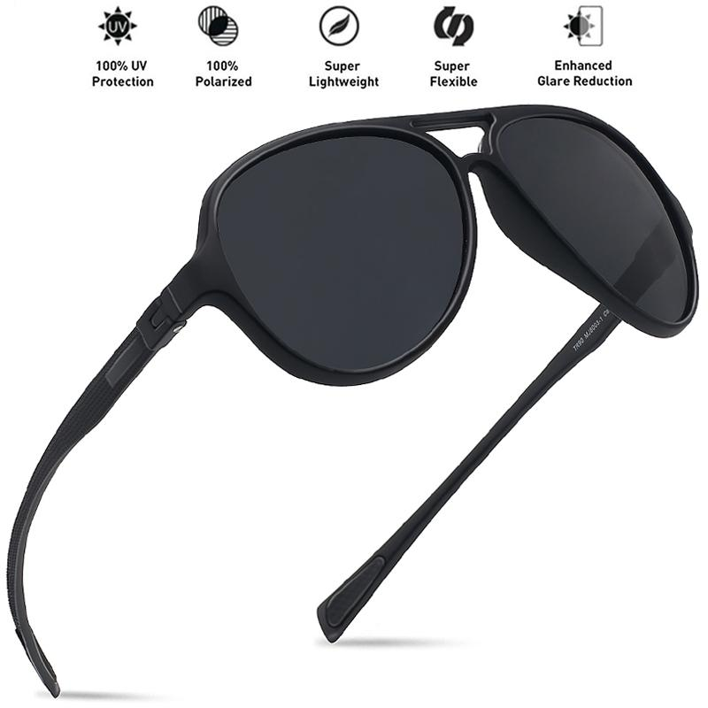 692f11a2762e6 Compre JULI Gafas De Sol Hombres Piloto Polarizado Moda Marco Irrompible  Tr90 Ultraligero De Pesca Ronda De Conducción Mujeres UV400 Gafas MJ8003 A   21.62 ...