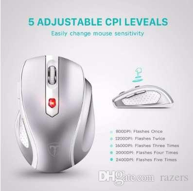 VicTsing Wireless Mouse Portable Mobile Optical Mice 2 4G with USB Receiver  5 Adjustable DPI Level 6 Buttons for Laptop PC New
