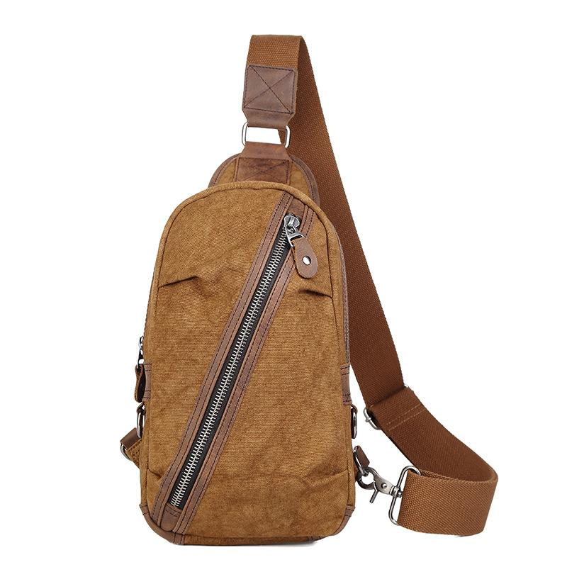 2aa5865cc4 High Design Men S Vintage Canvas Chest Bags High Quality IPAD Mini Chest  Packs Retro Leisure Cross Body Bag With Cowskin Leather Luxury Bags Cross  Body Bags ...
