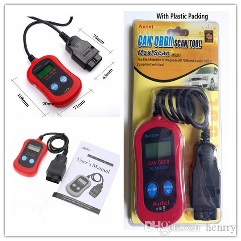 MS300 Code Reader Autel MaxiScan® MS300 Can OBD2 OBDII Scan Tool MaxiScan MS 300 Code Scanner Check Engine Light Reset Tool