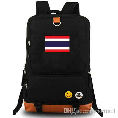 1430eed23e85 2019 Thailand Flag Backpack Happy Journey Banner School Bag Country Nylon  Daypack Quality Schoolbag Outdoor Rucksack Sport Day Pack From Sportmill