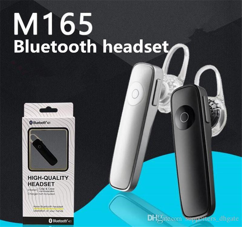 M165 fones de ouvido bluetooth sem fio fone de ouvido estéreo de ouvido Universal Mini fone de ouvido bluetooth handfree para todo o telefone com caixa de Varejo livre DHL