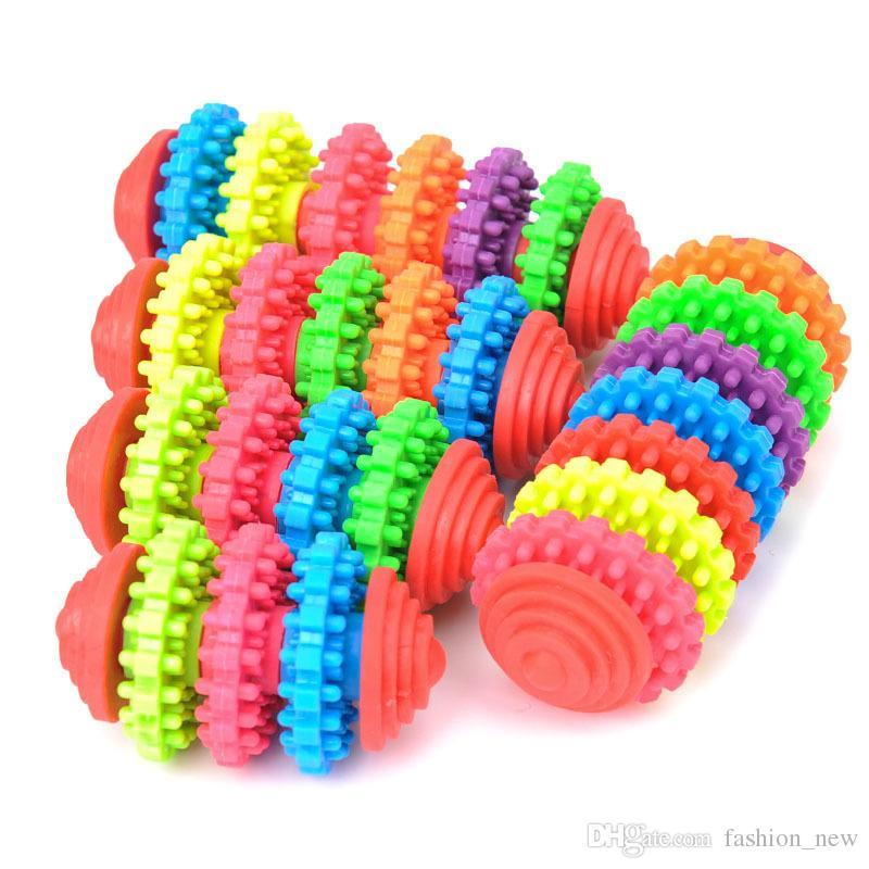 5 أنماط المطاط الكلب مضغ اللعب للكلاب الصغيرة اللعب اللعب جرو تنظيف الأسنان اللثة أداة تدريب صحة الأسنان الملونة الحيوانات اللعب