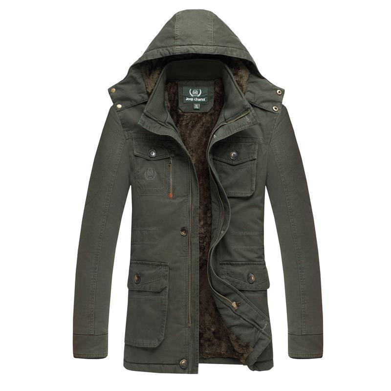 bff9313c51e9 Size L-8XL Men's Long 100% Washed Coon Thick Winter Snow Warm Jacket Fur  Coat,Faux Fur Lining Parkas For Men,2 Colors,5735