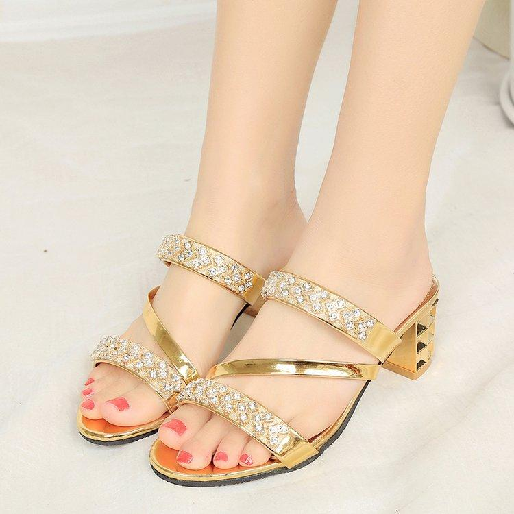 86027b67aa2 Foreign Trade 2018 Summer New Fashion Thick With Korean Wild Fish Mouth Female  Sandals And Slippers Leather Summer Dress Knee High Gladiator Sandals  Sandals ...