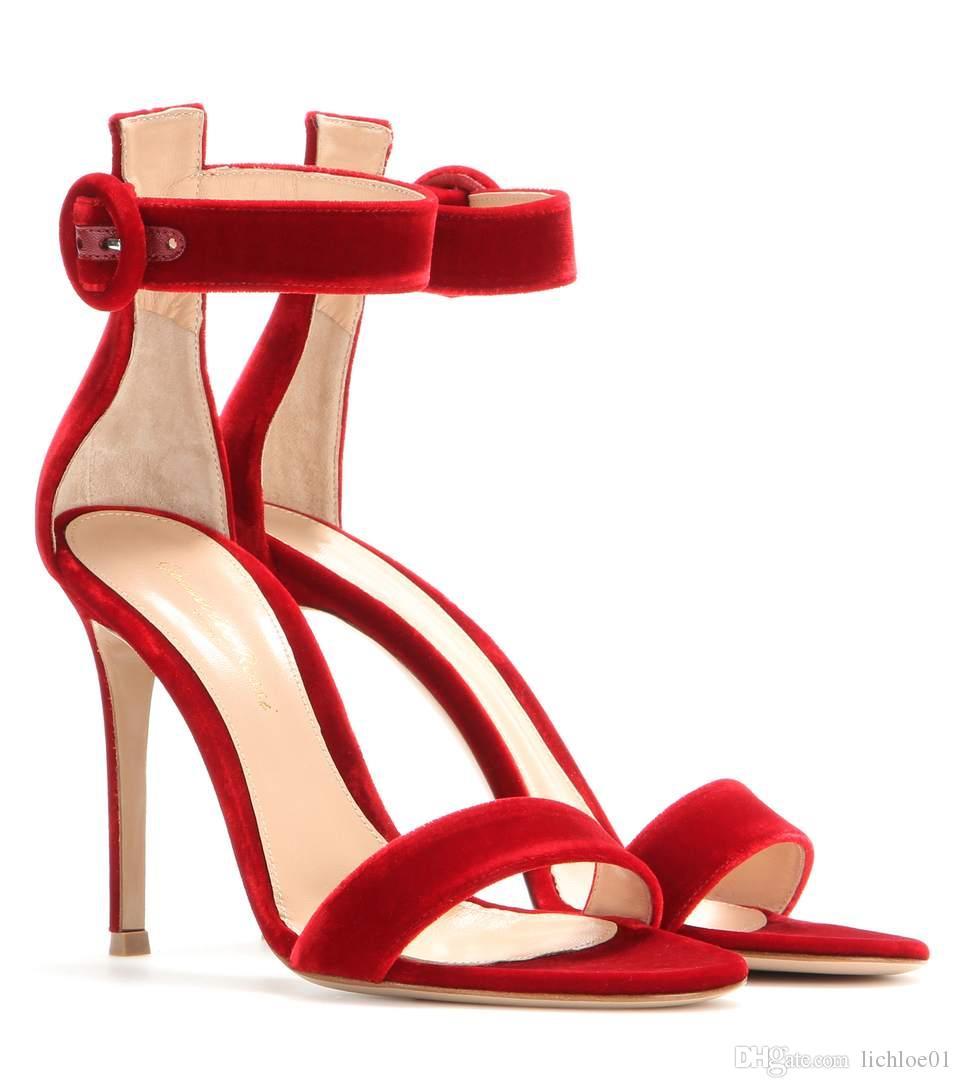 Terciopelo Terciopelo Sandalias De De Sandalias De Rojo Sandalias Rojo Terciopelo Rojo De Sandalias CodBrxe