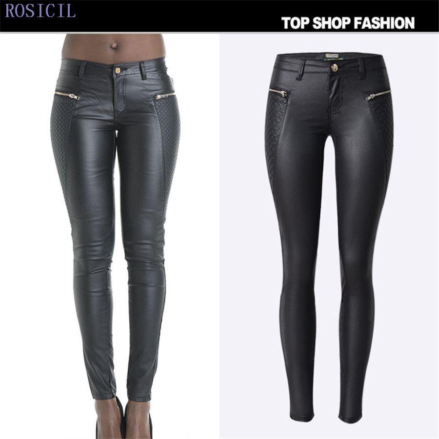 a30737f34fb5 2019 Fashion New Women Leather Pants PU Legging Skinny Pencil Pants Woman  Leather Leggings Jeans For Feminino Femme TSL045  From Morph1ne