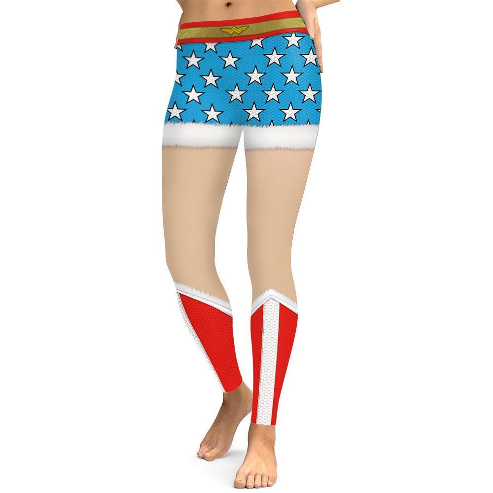 e3f5b85948e211 2019 Sexy Christmas Sport Gym Leggings Running Tights 3D Printed Wonder  Women Stars False Shorts Leggings Fitness Workout Leggins From Hcaihong, ...