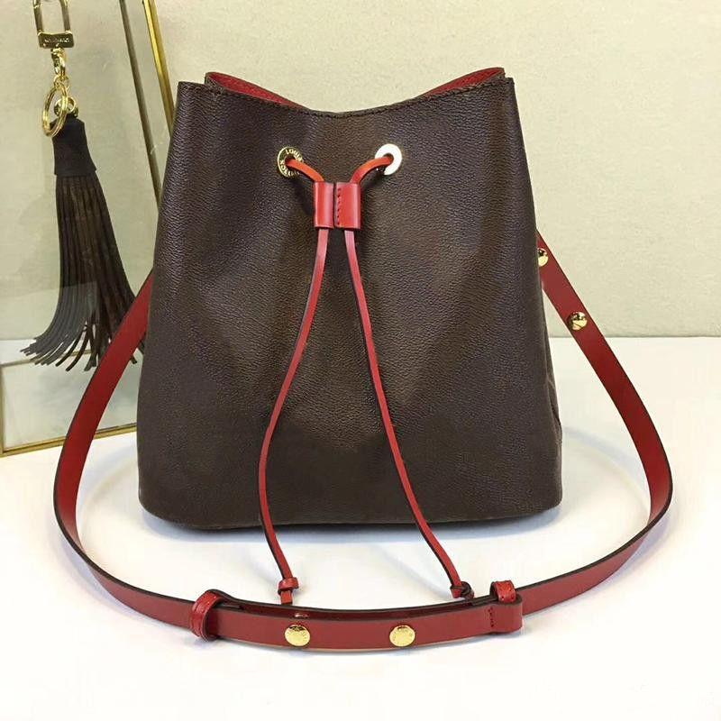 L129 sacs à bandoulière Noé en cuir seau sac femmes célèbres marques designer sacs à main de haute qualité fleur impression bandoulière sac bourse M4402