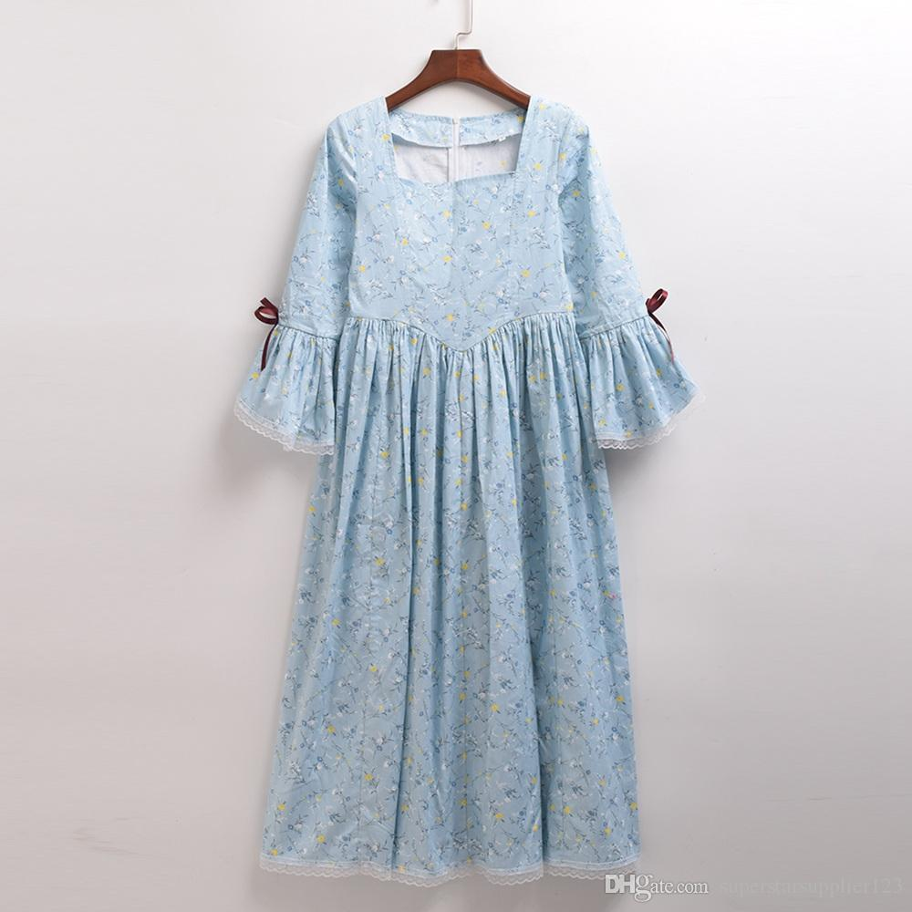 6-14 Years Kids Girls Halloween Carnival Costume Cosplay Retro Civil War Colonial Reenactment Rural Pioneer Dress