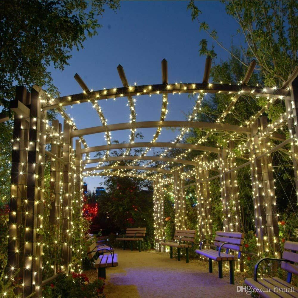 4ca6b03033c Compre Lámparas Solares Luces De Cadena LED 100 200 LED Fiesta De Navidad De  Hadas Al Aire Libre Guirnaldas Césped Solar Luces De Jardín Impermeable A  ...