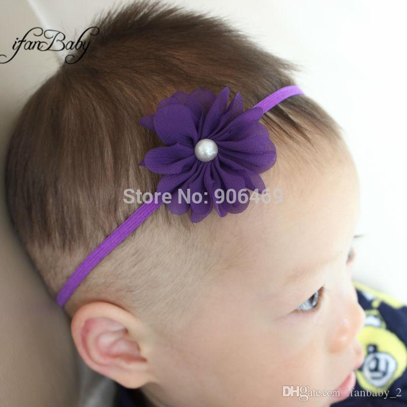 Großhandel Haarzusätze Schicke Chiffon Blumenstirnbandgewebe Blume ...