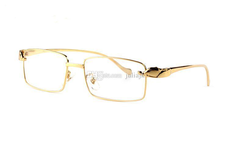 Fashion designer leopard sunglasses 18k gold plated full-frame optical glasses transparent lens brown black lens with original box