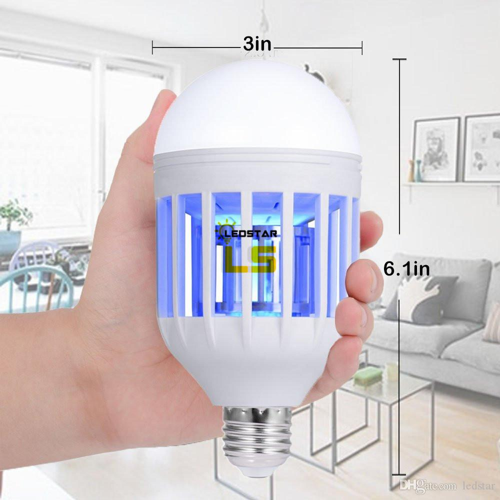 E27 15W LED Mosquito Killer Bulbs Lamp Light Eco Mosquito Killer Household Anti-Mosquito Electric Insect Killer Bulb 110V 220V